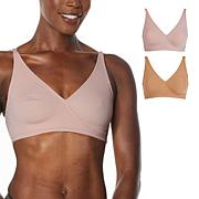 Rhonda Shear 2-pack Butterknit Wrap Bra with Removable Pads