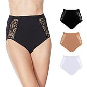Rhonda Shear 3-pack Seamless High-Waisted Ahh Brief with Lace