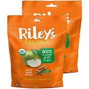 Riley's Organics  Tasty Apple Small Bone Dog Treats 2 Pack 5 oz pac...