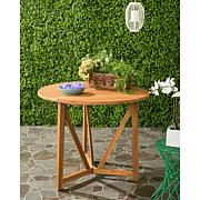 Safavieh Cloverdale Round Table - Teak Brown Finish