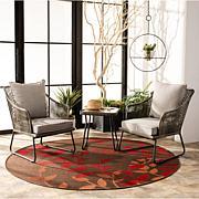 Safavieh Jensen 3-Piece Lounge Set - Brown, Grey