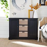 Safavieh Landers 2 Door Console with 3 Removable Baskets