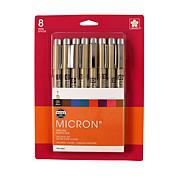 SAKURA Pigma Pen Set - Micron (05) Assorted Colors 8-Pack