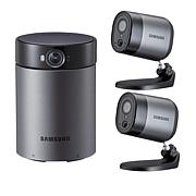 Samsung HD Indoor and 2 Outdoor Security Cameras with Station Hub