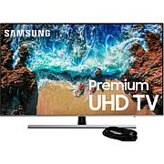 """Samsung NU8000 75"""" 4K LED Flat HDR Plus TV with 6' HDMI Cable"""