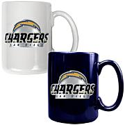 San Diego Chargers 2pc Coffee Mug Set