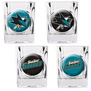 San Jose Sharks 4pc Collector's Shot Glass Set