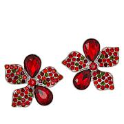 Sassy Jones Callie Pavé and Pear Floral Stud Earrings