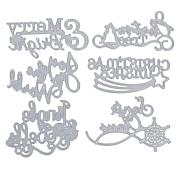 Sharon Callis Christmas Sentiments 6-piece Die Set