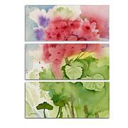 """Sheila Golden """"Pink Geranium"""" 3-Panel, Giclée-Print Set"""