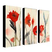 """Sheila Golden """"Poppies"""" 3-Panel, Giclée Print Set"""