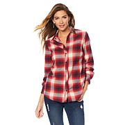 Sheryl Crow Studded Collar Plaid Shirt