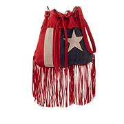 Sheryl Crow Suede Fringe Flag Bag