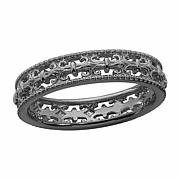 Simply Stacks  Sterling Silver Fleur-de-lis Ring