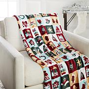 Soft & Cozy Plush Holiday Printed Throw