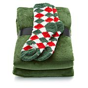 Soft & Cozy Throw and Pair of Socks Plush Set