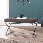 Southern Enterprises Letta Upholstered Bench - Gray