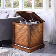 Southern Enterprises Winton Louvered End Table Trunk - Oak Saddle