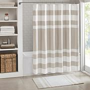 Spa Waffle Shower Curtain with 3M Treatment - Taupe/72""