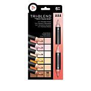 Spectrum Noir 6-piece Tri-Blend Marker Pens - Portrait Blends