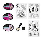Spectrum Noir Ink Pads & Silhouette Stamps - Magical Mystery