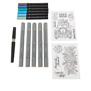 Spectrum Noir Marker Set with Christmas Stamps