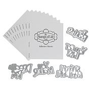 Stamps of Life Fearless Sentiments Die Set and 10 Adhesive Sheets