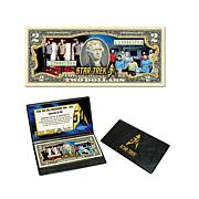 Star Trek 50th Anniversary $2 Bill - Enterprise Crew