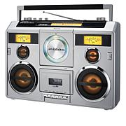 Studebaker 80's Retro Bluetooth Boombox w/Radio, Cassette & CD Player