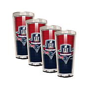 Super Bowl LI Champions Set of 4 Shot Glasses