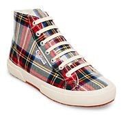 Superga Plaid High-Top Lace-Up Sneaker
