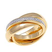 Technibond® Diamond-Accented Triple-Band Rolling Ring