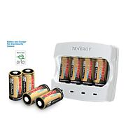 Tenergy 8-pack Rechargeable Battery Kit with