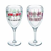 Tervis Winos Wine with Friends 2-pack 9 oz. Wine Glass