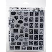 "Tim Holtz Cling Stamps 7"" x 8.5"" - Stamp Collector"