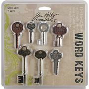 Tim Holtz Idea-Ology Word Keys - Set of 7