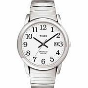 Timex Men's Silvertone Easy Reader Expansion Watch