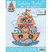 Tobin Baby: Quilt Stamped Cross Stitch Kit - Noah's Ark