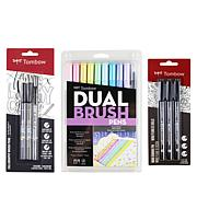 Tombow Dual Brush and Pen Handlettering Bundle