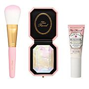 Too Faced Diamond Glow To Go Set with Primer and Brush