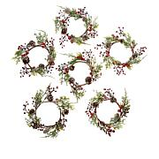 Unmatched Holiday Candle Rings - Set of 6