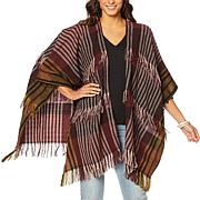 Vince Camuto Fringe Striped Ruana Topper