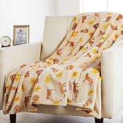 Warm & Cozy Oversized Velvet Soft Holiday Animal Throw