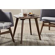 Wholesale Interiors Dahlia Walnut Wood End Table