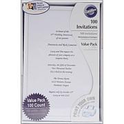 Wilton 100-pack Single Border Invitation Kit - White