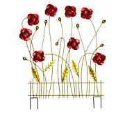Wind and Weather Painted Metal Garden Flower Screen