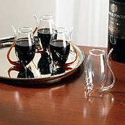 Wine Enthusiast Set of 4 Mouth Blown Glass Port Sippers