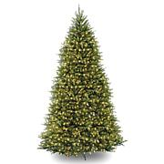 Winter Lane 10' Dunhill Fir Hinged Tree w/Lights