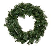 "Winter Lane 24"" Indoor/Outdoor Wreath with Remote and 30 LED Lights"