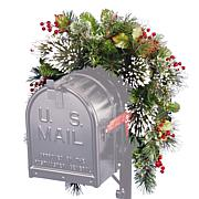 Winter Lane 3' Wintry Pine Collection Mailbox Swag